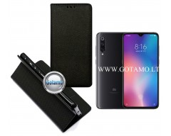 Re-Grid magnetinis dėklas Xiaomi Mi 9 telefonams juodos spalvos