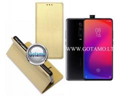 Re-Grid magnetinis dėklas Xiaomi Mi 9T, Xiaomi Redmi K20 telefonams aukso spalvos