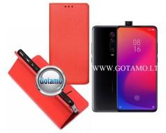 Re-Grid magnetinis dėklas Xiaomi Mi 9T, Xiaomi Redmi K20 telefonams raudonos spalvos