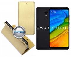Re-Grid magnetinis dėklas Xiaomi Redmi 5 Plus telefonams aukso spalvos