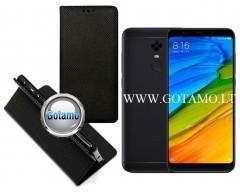 Re-Grid magnetinis dėklas Xiaomi Redmi 5 Plus telefonams juodos spalvos