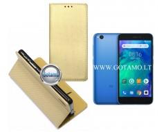 Re-Grid magnetinis dėklas Xiaomi Redmi Go telefonams aukso spalvos