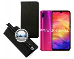 Re-Grid magnetinis dėklas Xiaomi Redmi Note 7, Xiaomi Redmi Note 7 Pro telefonams juodos spalvos