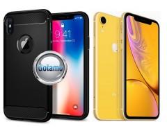 Siege dėklas nugarėlė Apple iPhone XR mobiliesiems telefonams juodos spalvos