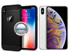 Siege dėklas nugarėlė Apple iPhone Xs Max mobiliesiems telefonams juodos spalvos