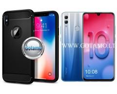 Siege dėklas nugarėlė Huawei Honor 10 Lite mobiliesiems telefonams juodos spalvos