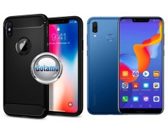 Siege dėklas nugarėlė Huawei Honor Play mobiliesiems telefonams juodos spalvos