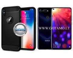 Siege dėklas nugarėlė Huawei Honor View 20 mobiliesiems telefonams juodos spalvos