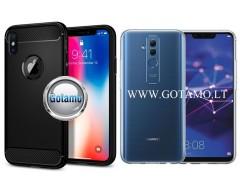 Siege dėklas nugarėlė Huawei Mate 20 Lite mobiliesiems telefonams juodos spalvos