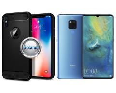 Siege dėklas nugarėlė Huawei Mate 20 mobiliesiems telefonams juodos spalvos