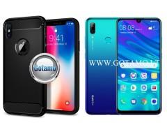Siege dėklas nugarėlė Huawei P Smart (2019) mobiliesiems telefonams juodos spalvos