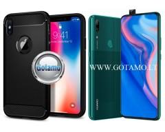 Siege dėklas nugarėlė Huawei P Smart Z Huawei Y9 (2019) mobiliesiems telefonams juodos spalvos