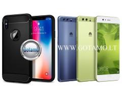 Siege dėklas nugarėlė Huawei P10 mobiliesiems telefonams juodos spalvos