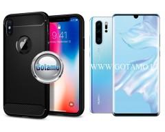 Siege dėklas nugarėlė Huawei P30 Pro mobiliesiems telefonams juodos spalvos