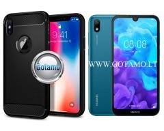 Siege dėklas nugarėlė Huawei Y5 (2019) Huawei Honor 8S mobiliesiems telefonams juodos spalvos