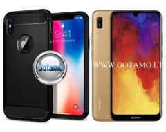 Siege dėklas nugarėlė Huawei Y6 (2019) Huawei Honor 8A mobiliesiems telefonams juodos spalvos