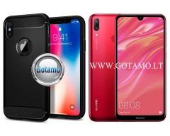 Siege dėklas nugarėlė Huawei Y7 (2019) mobiliesiems telefonams juodos spalvos