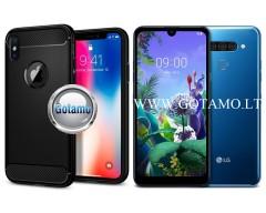 Siege dėklas nugarėlė LG Q60 mobiliesiems telefonams juodos spalvos