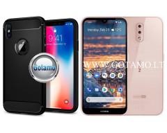 Siege dėklas nugarėlė Nokia 4.2 mobiliesiems telefonams juodos spalvos