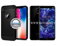 Siege dėklas nugarėlė Nokia 5.1 Plus mobiliesiems telefonams juodos spalvos
