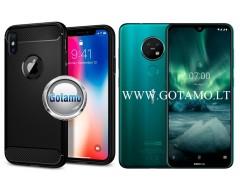 Siege dėklas nugarėlė Nokia 6.2 Nokia 7.2 mobiliesiems telefonams juodos spalvos