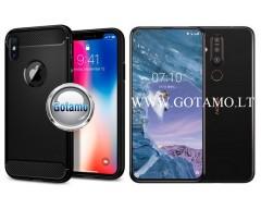 Siege dėklas nugarėlė Nokia 8.1 Plus Nokia X71 mobiliesiems telefonams juodos spalvos