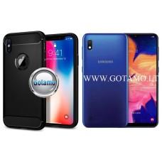 Siege dėklas nugarėlė Samsung Galaxy A10 Samsung Galaxy M10 mobiliesiems telefonams juodos spalvos Kaunas | Palanga | Telšiai