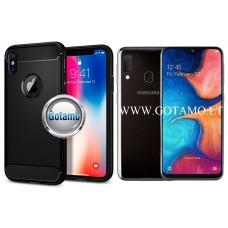 Siege dėklas nugarėlė Samsung Galaxy A20e mobiliesiems telefonams juodos spalvos