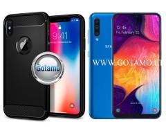 Siege dėklas nugarėlė Samsung Galaxy A50 mobiliesiems telefonams juodos spalvos