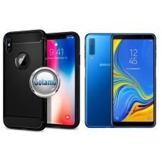 Siege dėklas nugarėlė Samsung Galaxy A7 (2018) mobiliesiems telefonams juodos spalvos Vilnius | Plungė | Kaunas