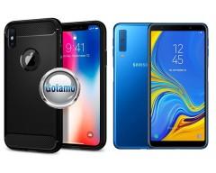 Siege dėklas nugarėlė Samsung Galaxy A7 (2018) mobiliesiems telefonams juodos spalvos