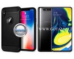 Siege dėklas nugarėlė Samsung Galaxy A80 mobiliesiems telefonams juodos spalvos