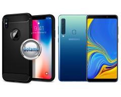 Siege dėklas nugarėlė Samsung Galaxy A9 (2018) mobiliesiems telefonams juodos spalvos