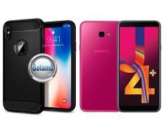 Siege dėklas nugarėlė Samsung Galaxy J4+ (2018) mobiliesiems telefonams juodos spalvos