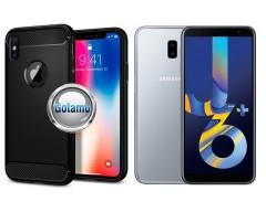 Siege dėklas nugarėlė Samsung Galaxy J6+ (2018) mobiliesiems telefonams juodos spalvos