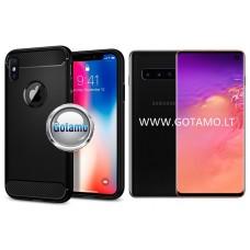 Siege dėklas nugarėlė Samsung Galaxy S10 mobiliesiems telefonams juodos spalvos
