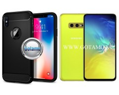 Siege dėklas nugarėlė Samsung Galaxy S10e mobiliesiems telefonams juodos spalvos