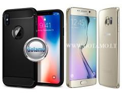 Siege dėklas nugarėlė Samsung Galaxy S6 edge mobiliesiems telefonams juodos spalvos