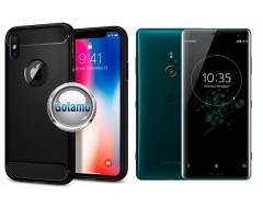 Siege dėklas nugarėlė Sony Xperia XZ3 mobiliesiems telefonams juodos spalvos