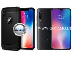 Siege dėklas nugarėlė Xiaomi Mi 9 mobiliesiems telefonams juodos spalvos