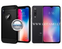 Siege dėklas nugarėlė Xiaomi Mi 9 SE mobiliesiems telefonams juodos spalvos