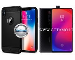 Siege dėklas nugarėlė Xiaomi Mi 9T, Xiaomi Redmi K20 mobiliesiems telefonams juodos spalvos