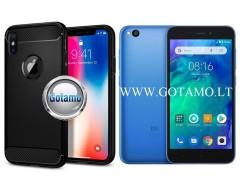 Siege dėklas nugarėlė Xiaomi Redmi Go mobiliesiems telefonams juodos spalvos