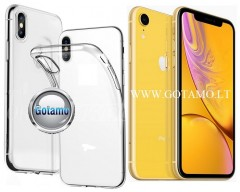 Skin silikoninis dėklas 2MM storio Apple iPhone XR telefonams