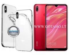 Skin silikoninis dėklas 2MM storio Huawei Y7 (2019) telefonams