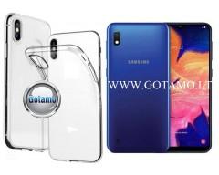 Skin silikoninis dėklas 2MM storio Samsung Galaxy A10 Samsung Galaxy M10 telefonams