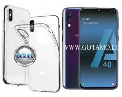 Skin silikoninis dėklas 2MM storio Samsung Galaxy A40 telefonams