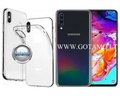 Skin silikoninis dėklas 2MM storio Samsung Galaxy A70 telefonams