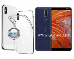 Skin silikoninis dėklas Nokia 3.1 Plus telefonams