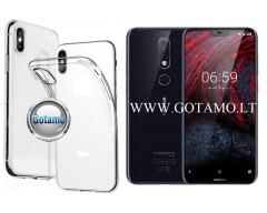 Skin silikoninis dėklas Nokia 6.1 Plus telefonams